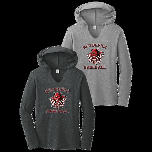 Red Devils Baseball Ladies Perfect Tri Long Sleeve Hoodie