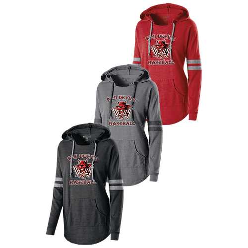Red Devils Baseball Ladies Low Key Hoodie