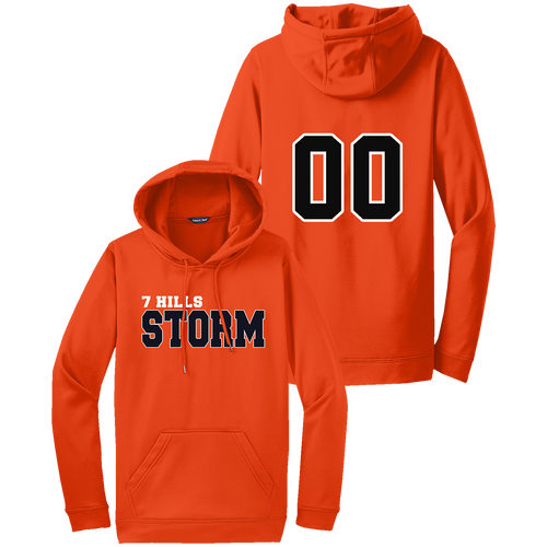 7 Hills Storm Performance Hoodie - Deep Orange - Number