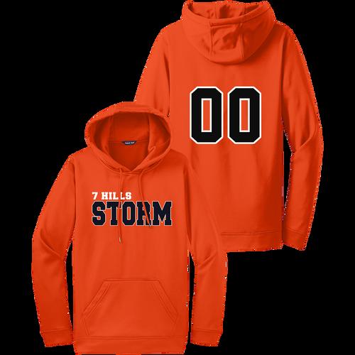 7 Hills Storm Performance Hoodie - Deep Orange - Number
