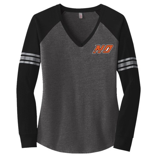 North Olmsted HS Hockey Ladies Game V-Neck LS Tee