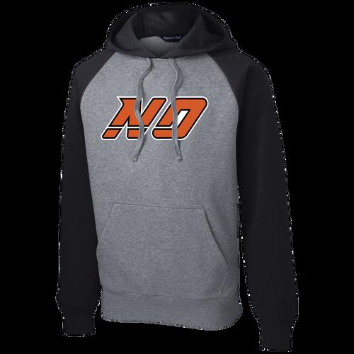 North Olmsted HS Hockey Raglan Colorblock Hoodie