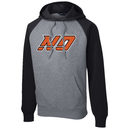 North Olmsted HS Hockey Raglan Colorblock Hoodie