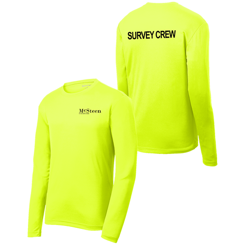 McSteen Land Surveyors Racermesh Safety LS Tee (S187/C026)