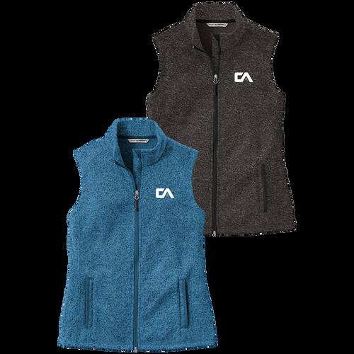 Campbell & Associates Ladies Sweater Fleece Vest (RY421)
