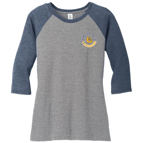OFHS Girls Lacrosse Ladies Perfect 3/4 Sleeve Raglan Tee (S090)