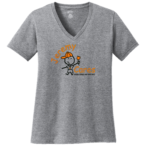 Jeremy Cares Ladies V Neck Tee (F356)