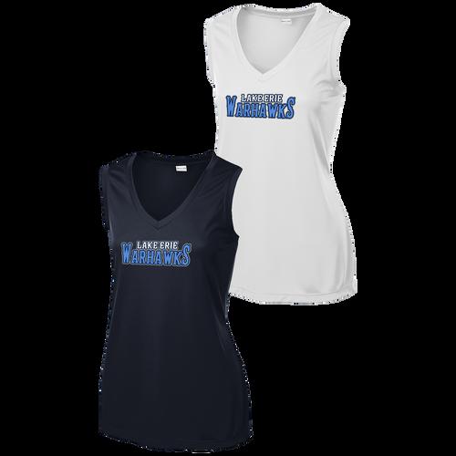 Lake Erie Warhawks Softball Ladies Sleeveless V-Neck Tee (F372)