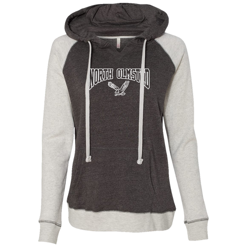 North Olmsted Athletic Boosters Ladies Raglan Hoodie (F379)