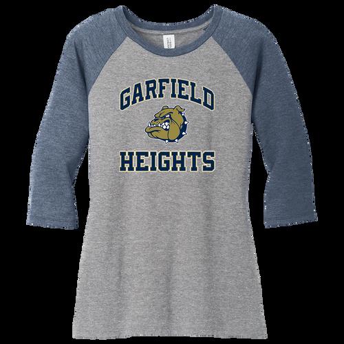 Garfield Heights Athletic Booster Club Ladies 3/4-Sleeve Raglan Tee (F380)