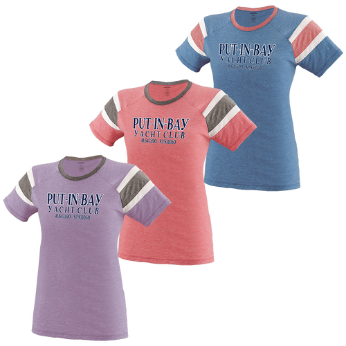 Put-In-Bay Yacht Club Ladies Fanatic Tee (F393)