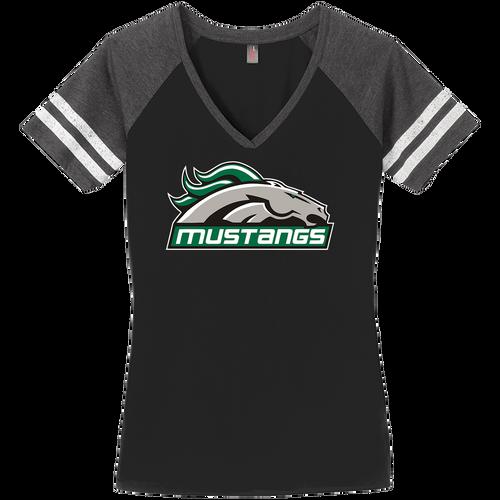 Strongsville Mustangs Ladies Game V-Neck Tee (F395)