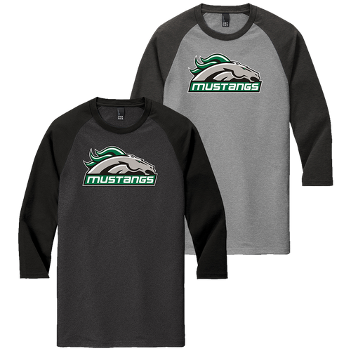 Strongsville Mustangs 3/4-Sleeve Raglan Tee (F395)