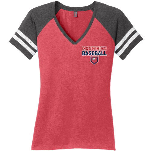 Broadview Heights Baseball Ladies Game V-Neck Tee (S217)