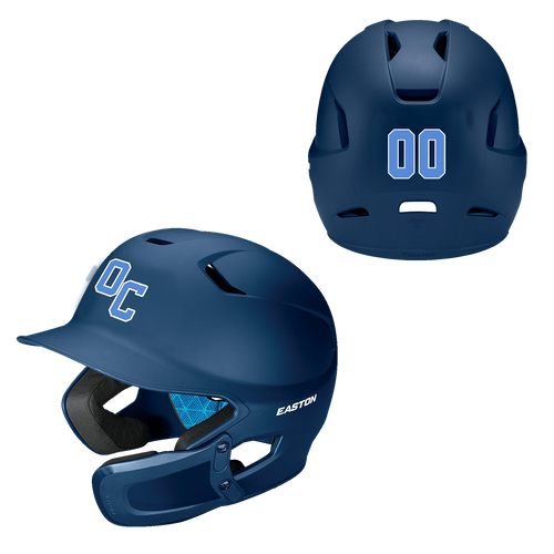 Ohio City Baseball Batting Helmet with Jaw Protection (DECAL)