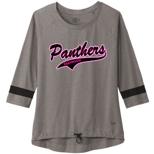 Medina Panthers Fastpitch Ladies Tri-Blend 3/4-Sleeve Tee (F416)
