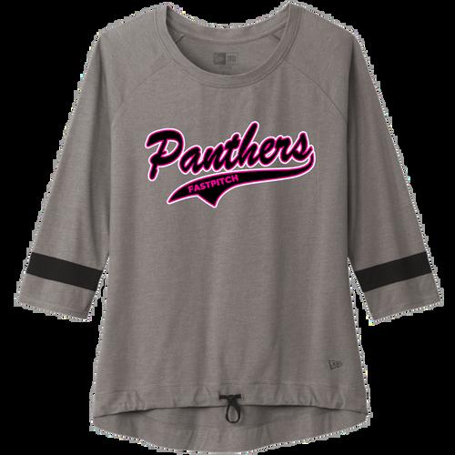 Medina Panthers Fastpitch Ladies Tri-Blend 3/4-Sleeve Tee (F416)