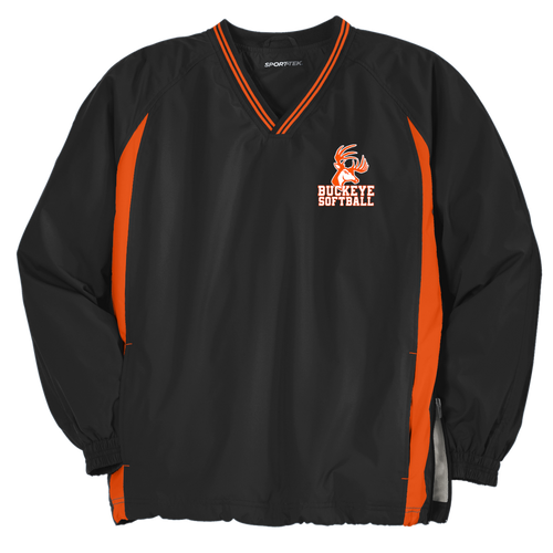 Buckeye Softball Tipped V-Neck Raglan Wind Shirt (RY262)