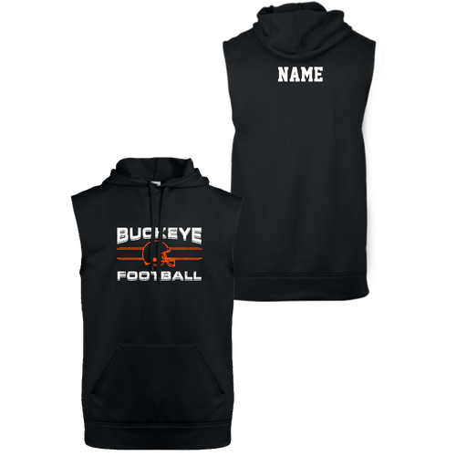 Buckeye Football Sleeveless Hoodie  (F427)