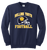 Bulldog Youth Football Crewneck - Navy