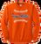 Full Front Ball Stitch Logo - Orange