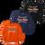 Full Front Ball Stitch Logo - Orange, Navy and Black