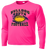 Bulldog Youth Football Performance Tee LS - Neon Pink