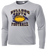 Bulldog Youth Football Performance Tee LS - Silver