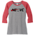 NEO Volleyball Clue Perfect 3/4 Sleeve Raglan Tee - Red Frost/Grey Frost