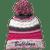 OFAB Bulldogs Pom Pom Beanie - Pink Raspberry/Iron Grey