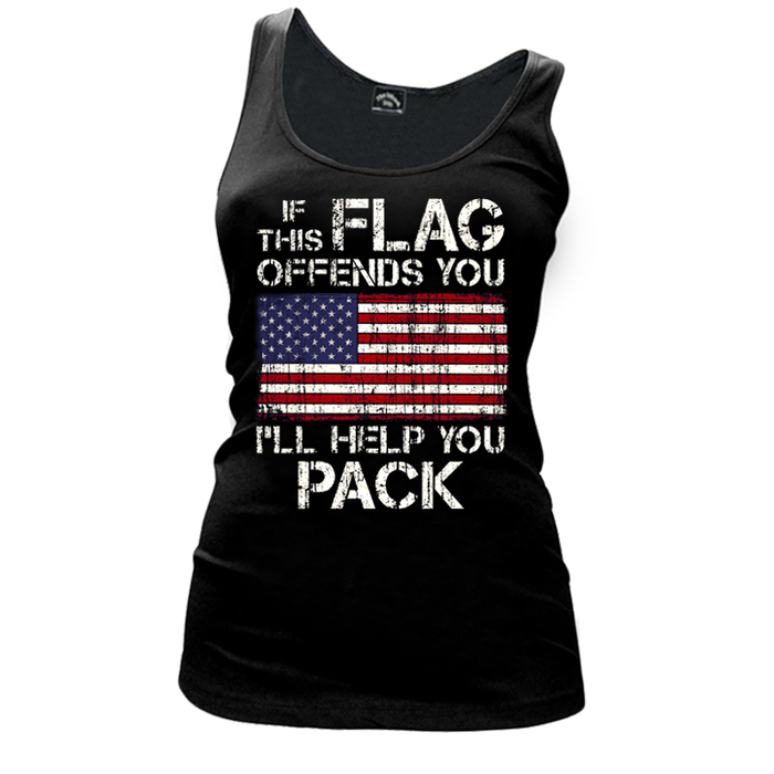 Women'S If This Flag Offends You (United States) - Tank Top
