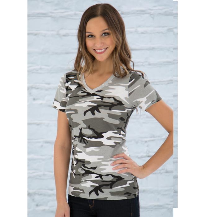 Women'S Gray Camo - Tshirt
