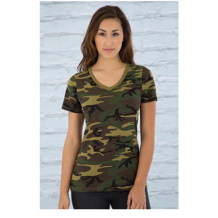 Women's Green Camo - Tshirt