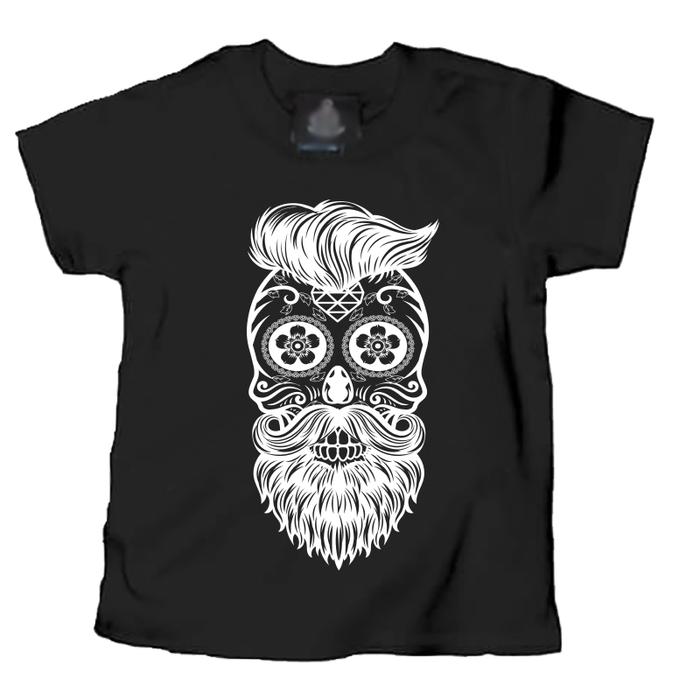 Kids Skull & Beard - Tshirt