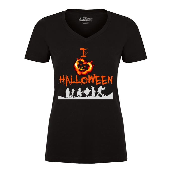 Women's I Love Halloween - Tshirt