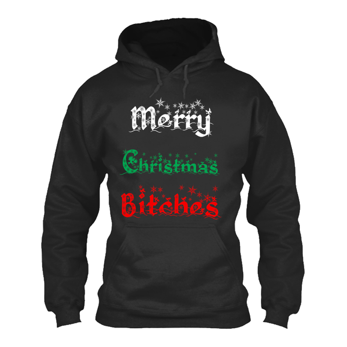 Men'S Merry Christmas Bitches - Hoodie
