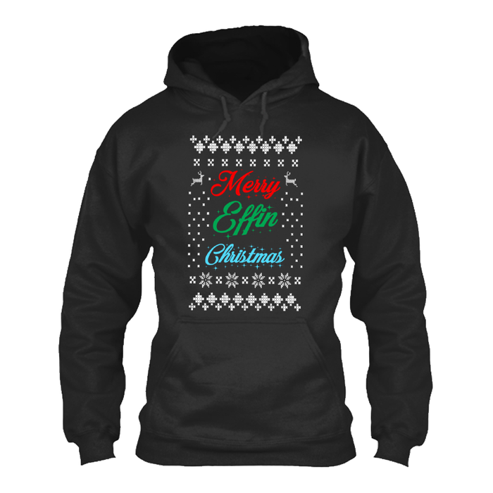Men'S Merry Effin Christmas - Hoodie