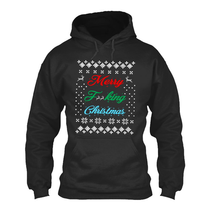 Men'S Merry Fucking Christmas (Censored) - Hoodie