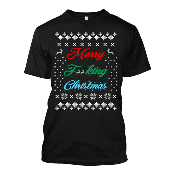 Men'S Merry Fucking Christmas (Censored) - Tshirt