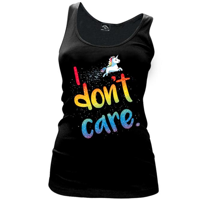 Women'S I Don'T Care (Unicorn) - Tank Top