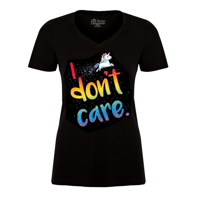 Women'S I Don'T Care (Unicorn) - Tshirt