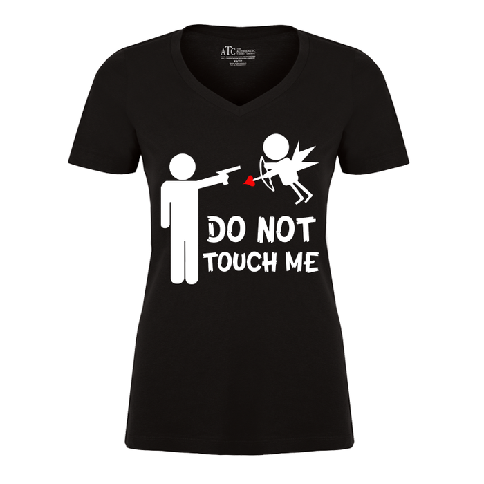 Women'S Do Not Touch Me Cupid Angel Arrow Anti-Valentine'S - Tshirt