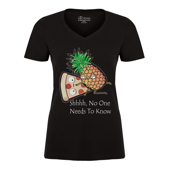 Women'S Shhh No One Needs To Know - Tshirt