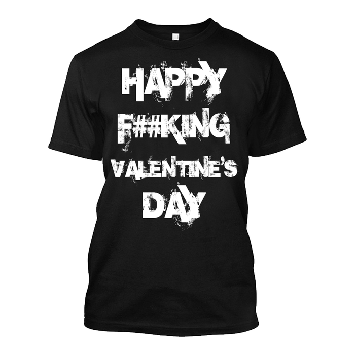 Men'S Happy Fucking Valentine's Day (Censored) - Tshirt