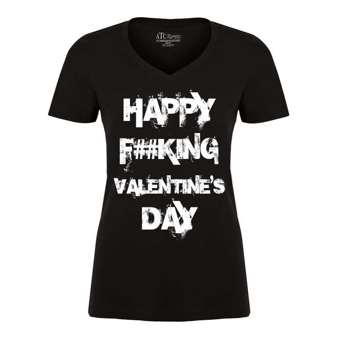 Women'S Happy Fucking Valentine's Day (Censored) - Tshirt