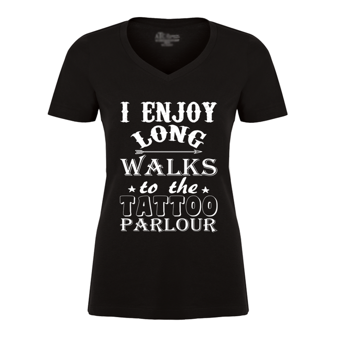 Women'S I Enjoy Long Walks To The Tattoo Parlour - Tshirt