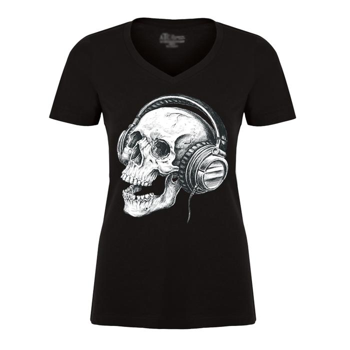 Women'S Skull & Music - Tshirt