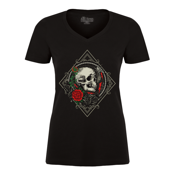 Women'S Skull & Rose - Tshirt