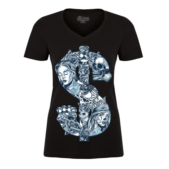 Women'S Dollar Sign - Tshirt