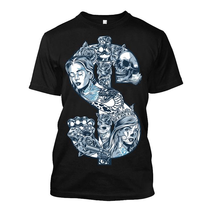 Men'S Dollar Sign - Tshirt